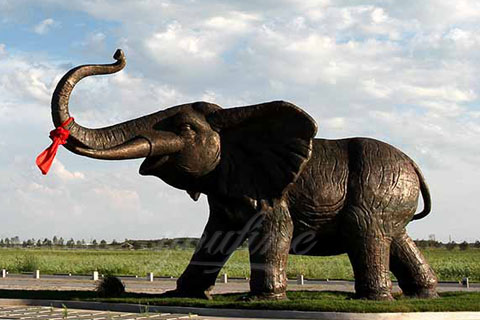 Brass sculpture outdoor elephant statues for garden decor