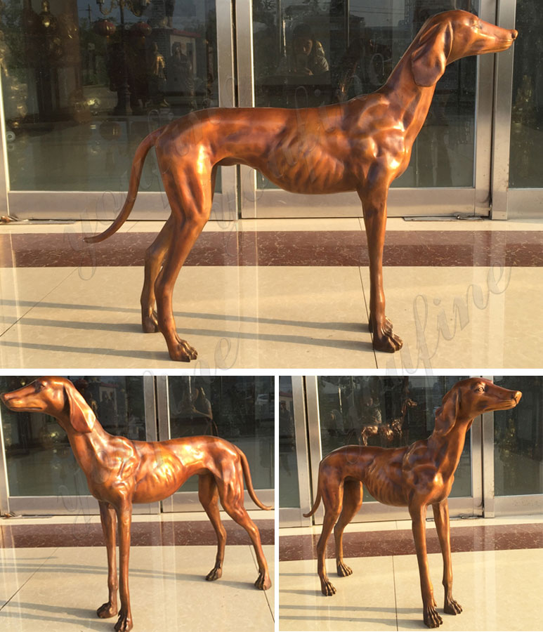 bronze-greyhound-sculpture-garden-ornament-for-sale