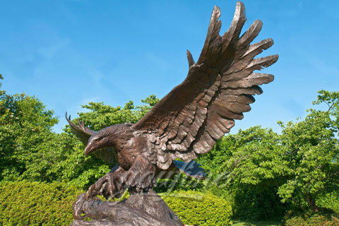 Outdoor Cast Brass Bronze Eagles Sculptures For Sale
