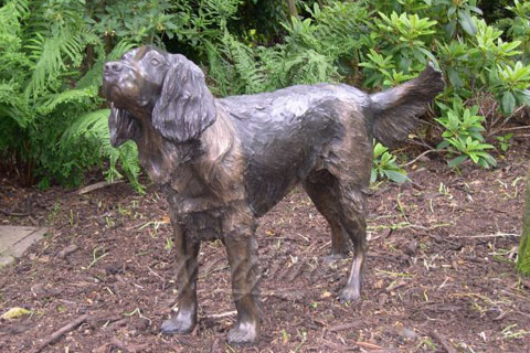 Custom bronze dog sculpture metal  yard art sculpture for sale