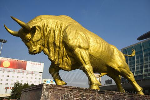Antique bronze bull sculpture for sale