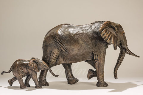 Customized full size bronze Animal elephant sculpture For Sale