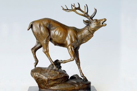 Indoor elk sculptures animal statue for home decor for sale