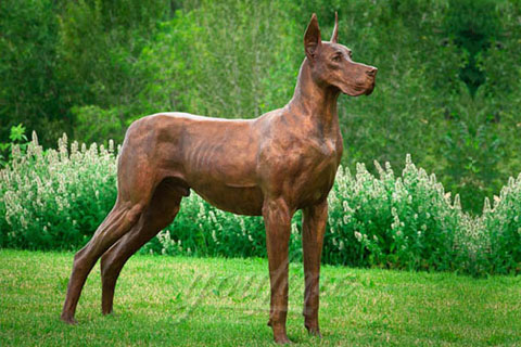 Full size dog statues bronze animal sculptures for sale