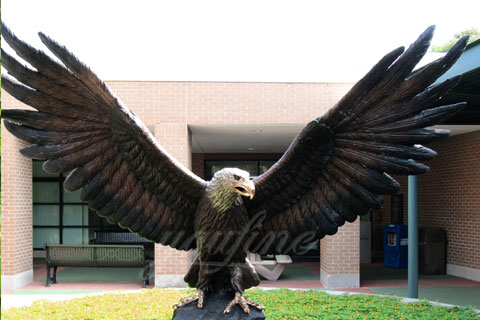 Outdoor Garden eagle bronze animal statues for sale