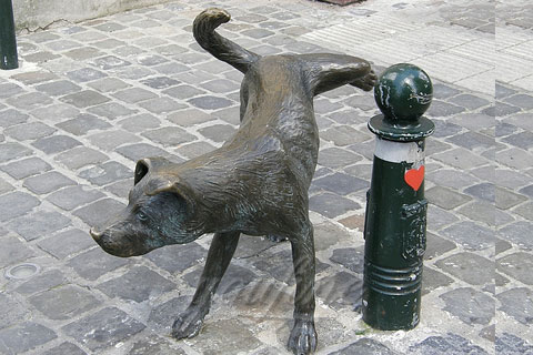 Full size metal bronze animal sculpture dog statues for sale