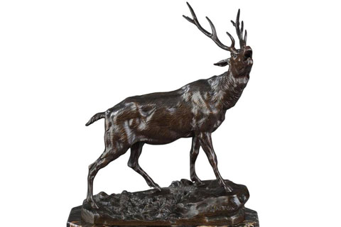 Indoor statue elk figurine for home decor