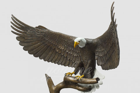 Garden Decorative full size Outdoor eagles Bronze animal statues for sale