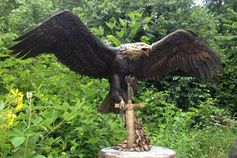 Full size bronze animal eagle statue for sale