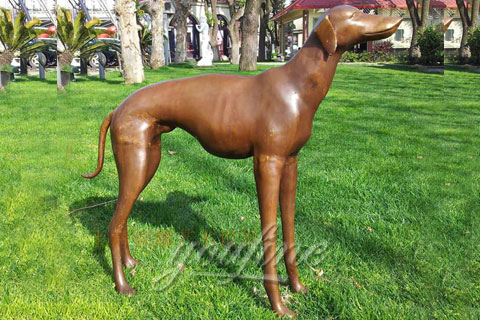 Large outdoor sculpture cast bronze dog statues for sale