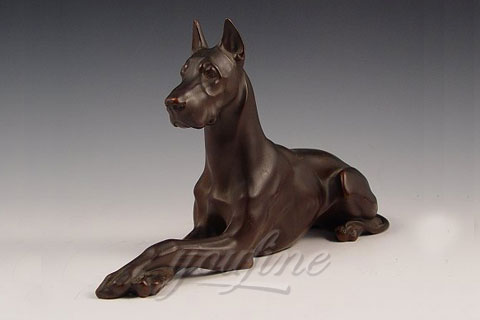 Full size dog sculpture famous bronze copper dog statue for home decor