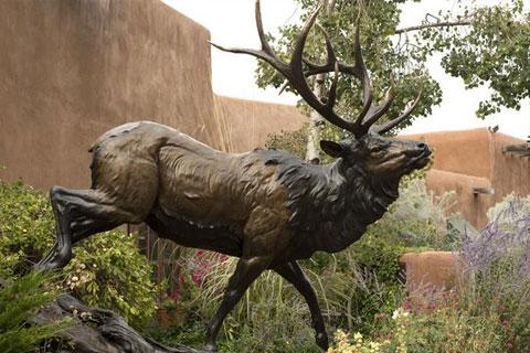 Life size metal bronze animal moose elk deer statue for sale