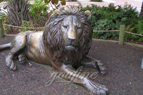 Outdoor full Size Garden Bronze lion Statues For sale
