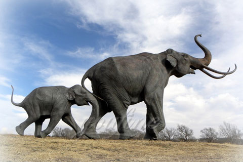 Outdoor Playground Bronze Animal Elephant Statues for Sale