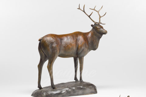 Outdoor Wholesales Wild elk sculptures for garden decor