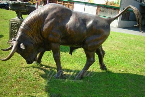 Outdoor decorative metal art bronze bull statue for yard decor