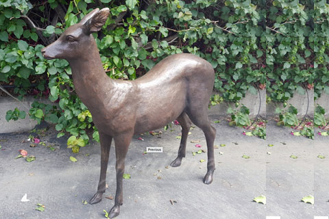 Outdoor Life size metal bronze animal deer statues on sale