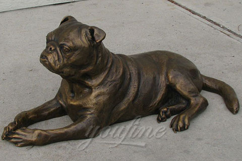 Welcome bronze animal statue bronze Customized dog statues at home