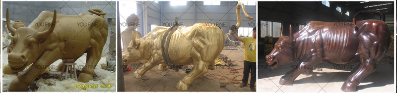bronze bull statue for sale