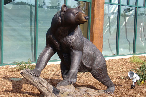 life size black bear garden statues for garden