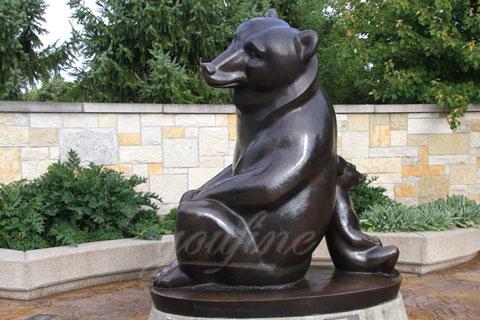 Wholesales antique bronze black animal sculpture bear statues for sale