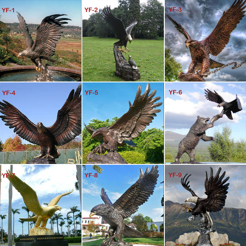 bronze eagle Statues for sale