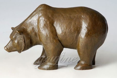 life size large bronze animal bear sculptures for zoo decoration