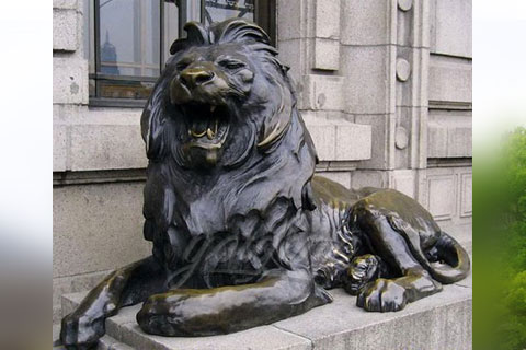 Classic Design Life Size Bronze lion statues for garden