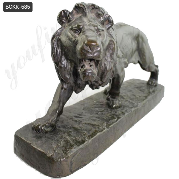 Outdoor Large Size Garden Decorative Bronze Lion Sculpture for Sale BOKK-685