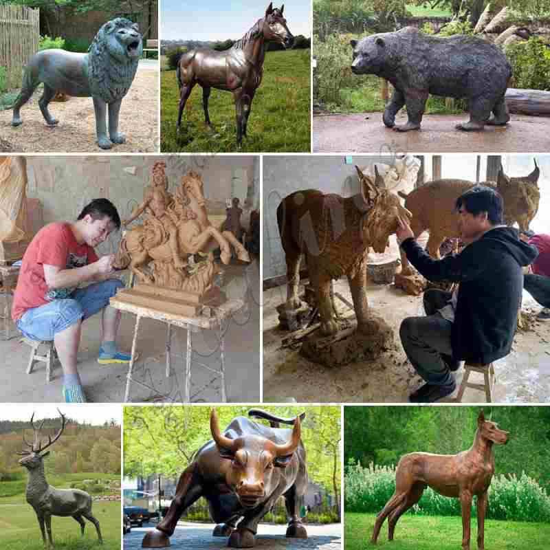 Casting Bronze Animal Bull Sculpture