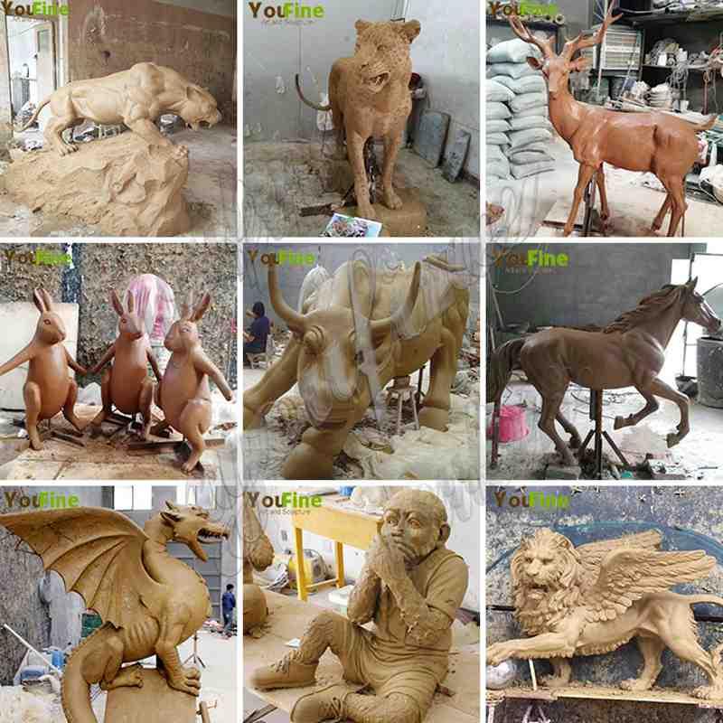 Casting Bronze Wildlife Elk Statue