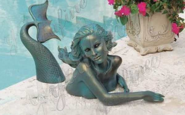 High-quality Outdoor Antique Bronze Mermaid Sculpture for Decor Manufacturer BOKK-703