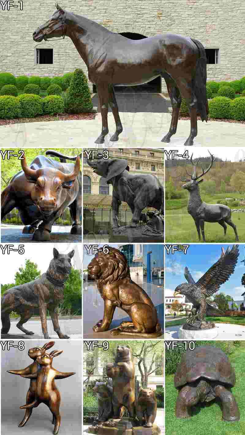 Large Bronze Bull Sculpture