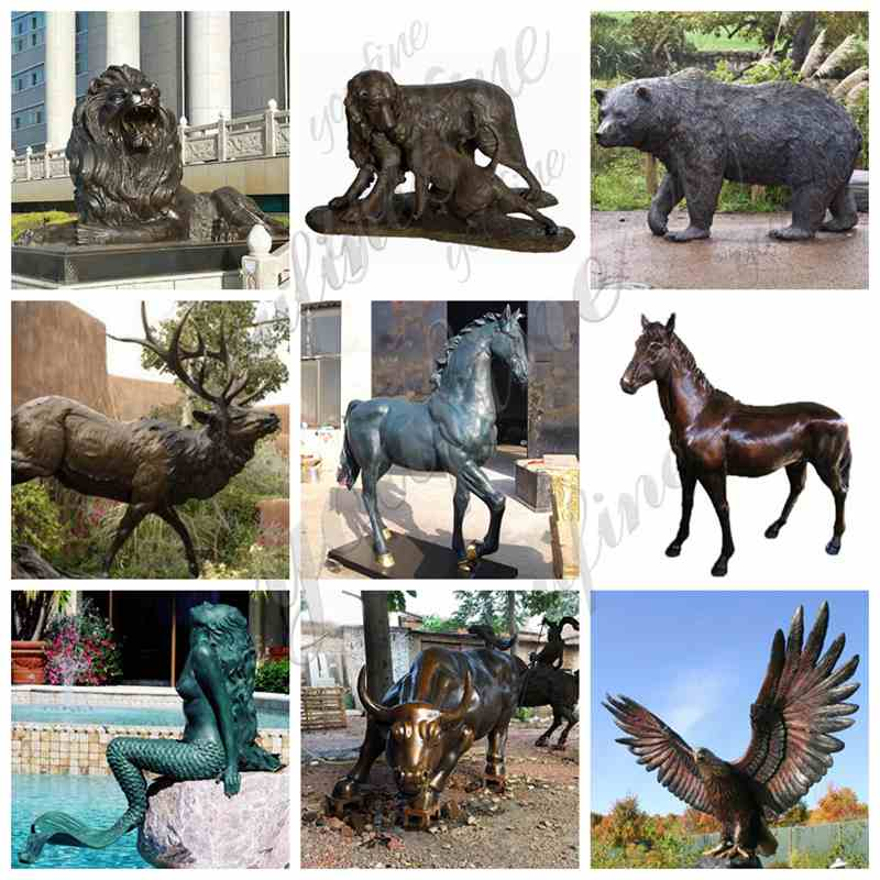 Large Size Bronze Wildlife Elk Statue