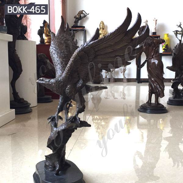 Large Size Outdoor Flying Casting Bronze Eagle Garden Sculpture Wholesale BOKK-465