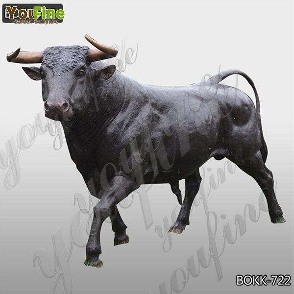 Life Size Outdoor Casting Bronze Bull Sculpture for Garden Decor Supplier BOKK-722