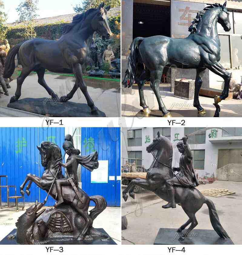 Antique Bronze Horse Sculpture for Garden Decor