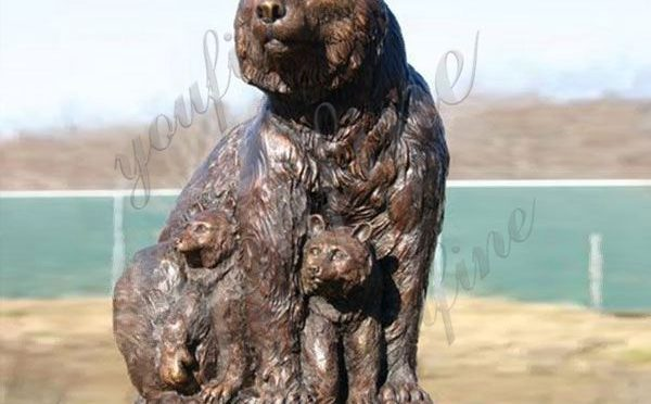 Customized Casting Bronze Grizzly Bear Statue for Garden Manufacturer BOKK-676