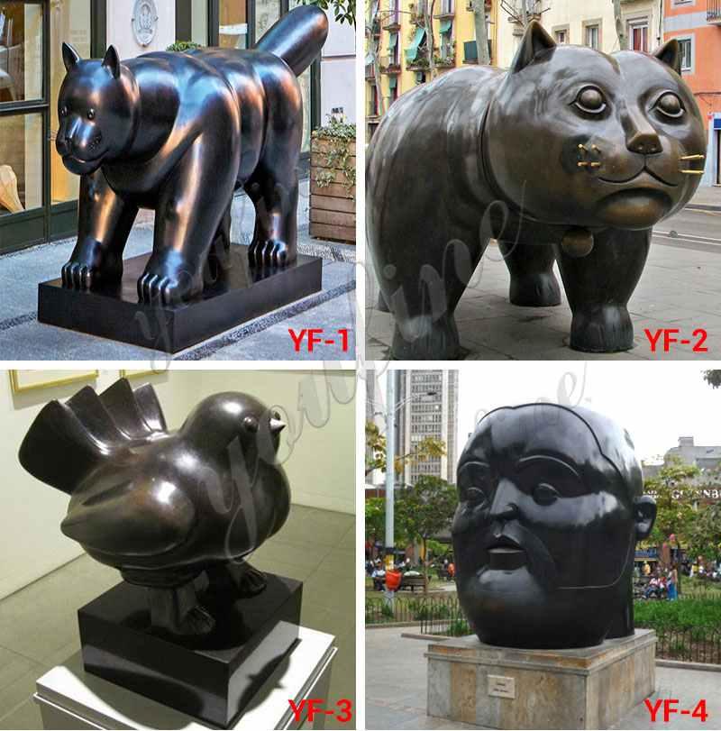 Fernando Botero's Bronze Fat Horse Sculpture