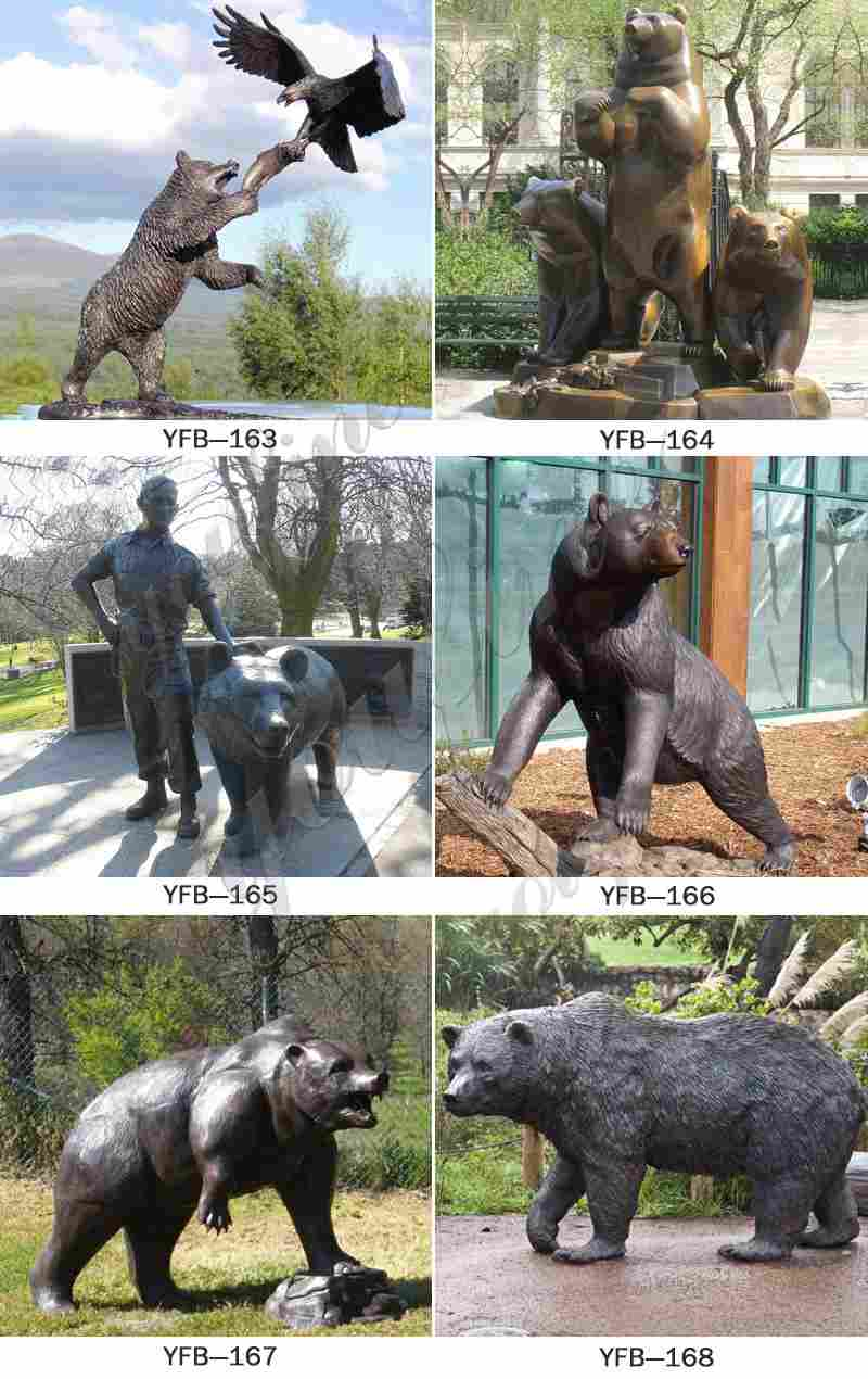 Large Size Bronze Bear Statues