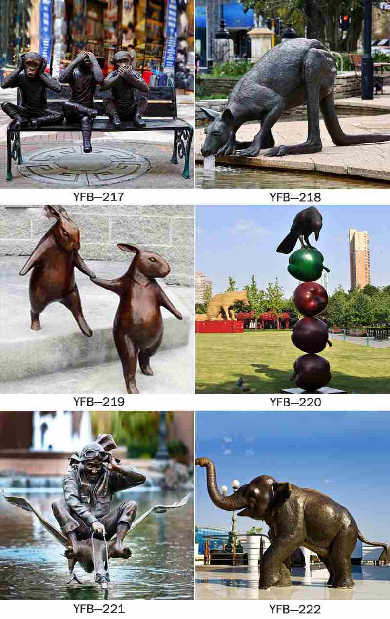 Bronze Garden Lion Statues