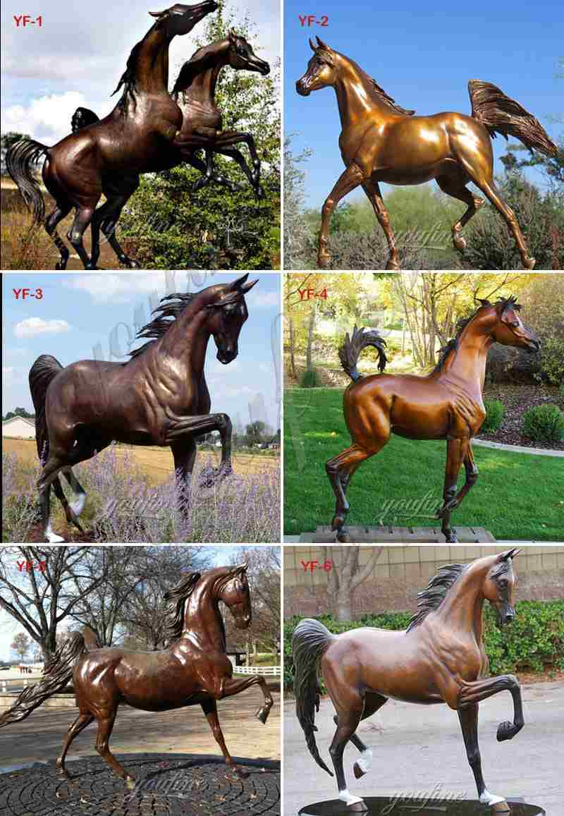 Bronze Mare and Foal Sculpture