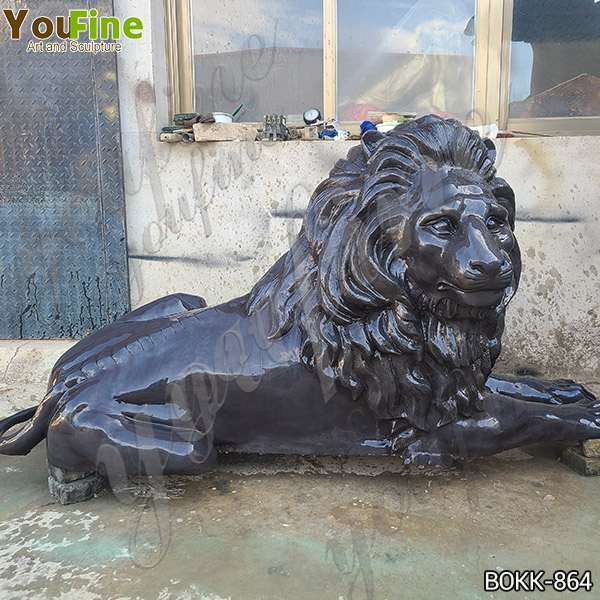 Life Size Outdoor Bronze Garden Lion Statues for Sale BOKK-864