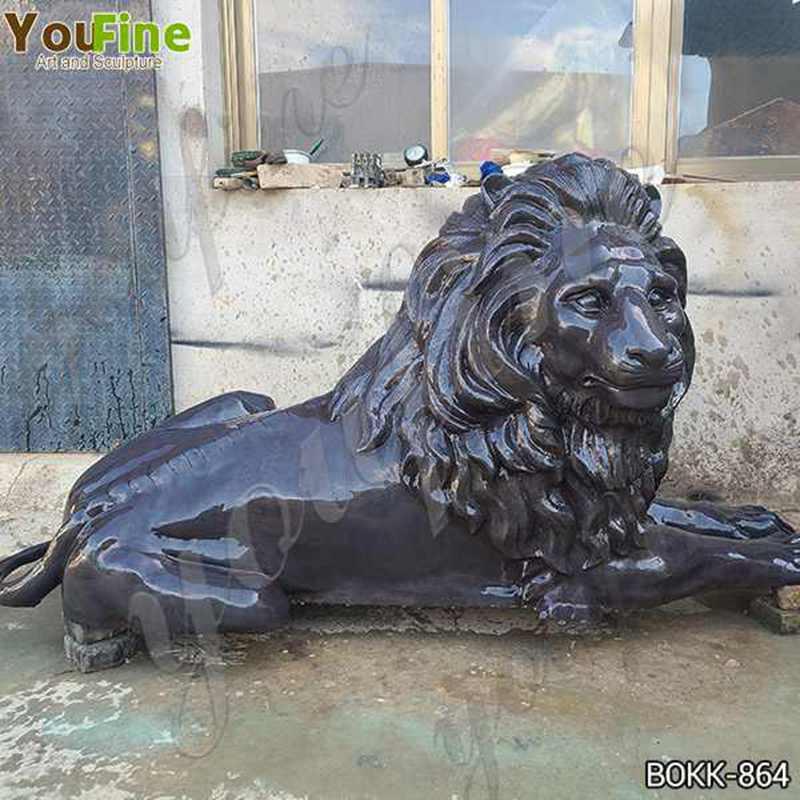 Life Size Outdoor Bronze Garden Lion Statues for Sale BOKK-864