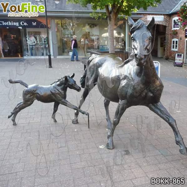 Outdoor Garden Ringwood Bronze Mare and Foal Sculpture Replica for Sale BOKK-865