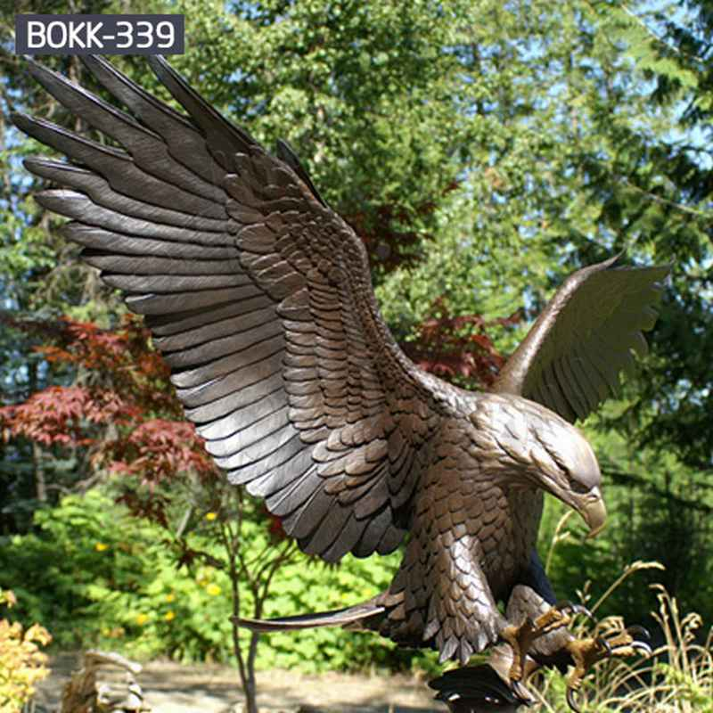 Life Size Outdoor Cast Bronze Flying Eagle Statue for Sale BOKK-339