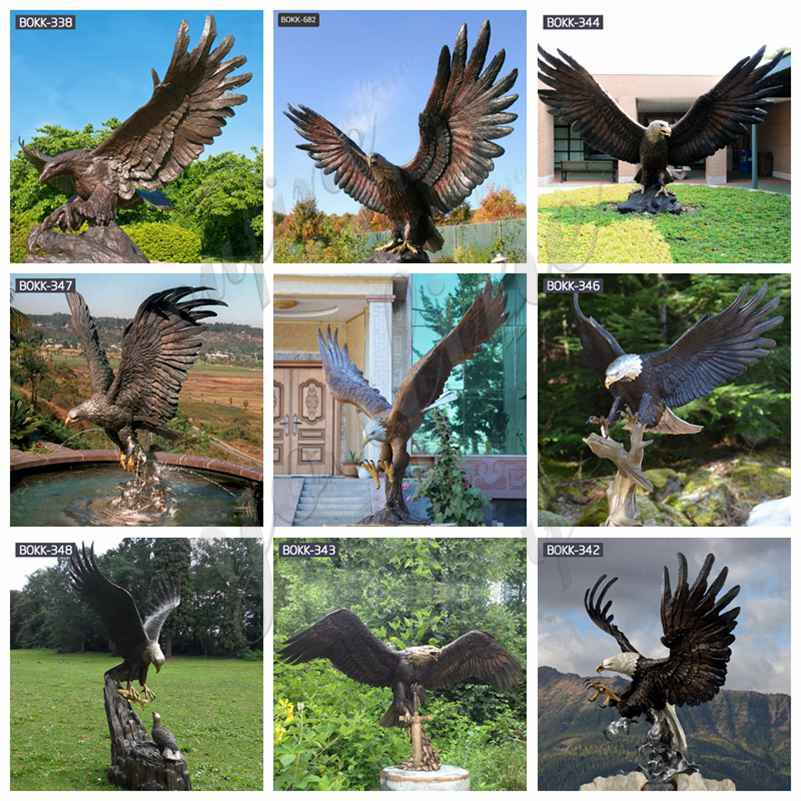 outdoor bronze eagle statues