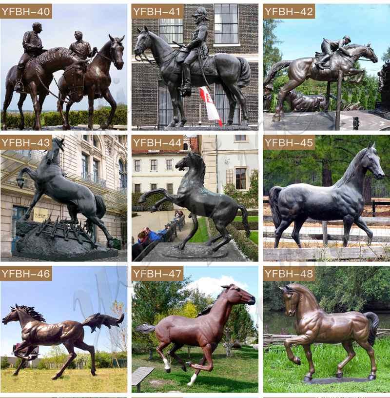 Life Size Cast Bronze Grazing Horse Garden Statue