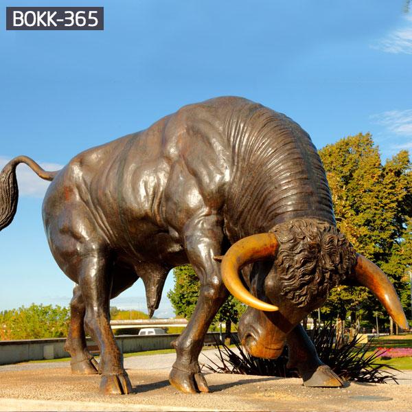 Outdoor Large Bronze Bull Statue for Sale BOKK-365