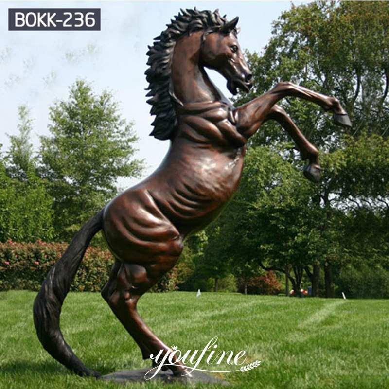 Hot Sale Life Size Bronze Jumping Horse Statue Outdoor Racecourse BOKK-236